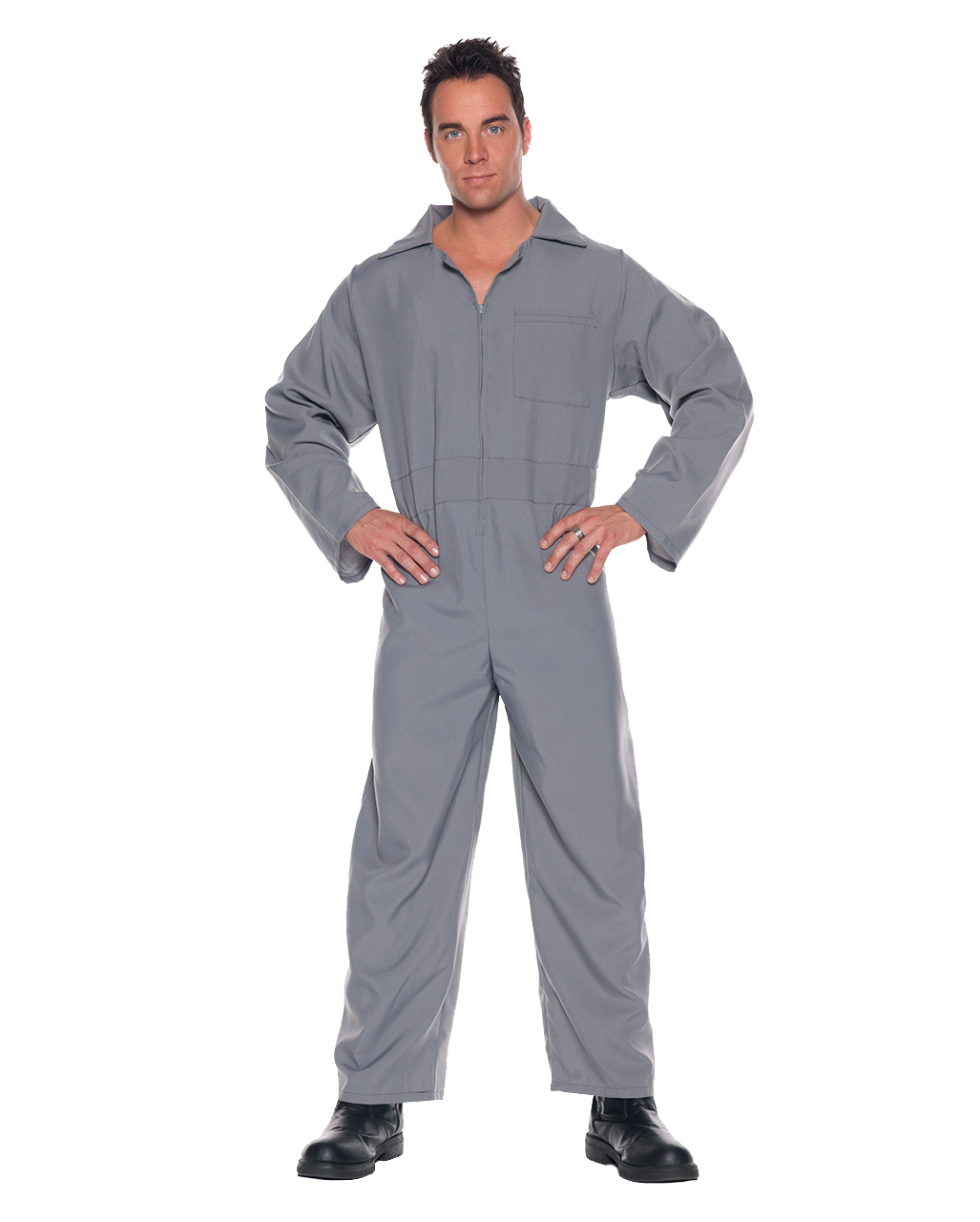 Adult gray jumpsuit | Grey Adult Junmpsuit | horror-shop.com