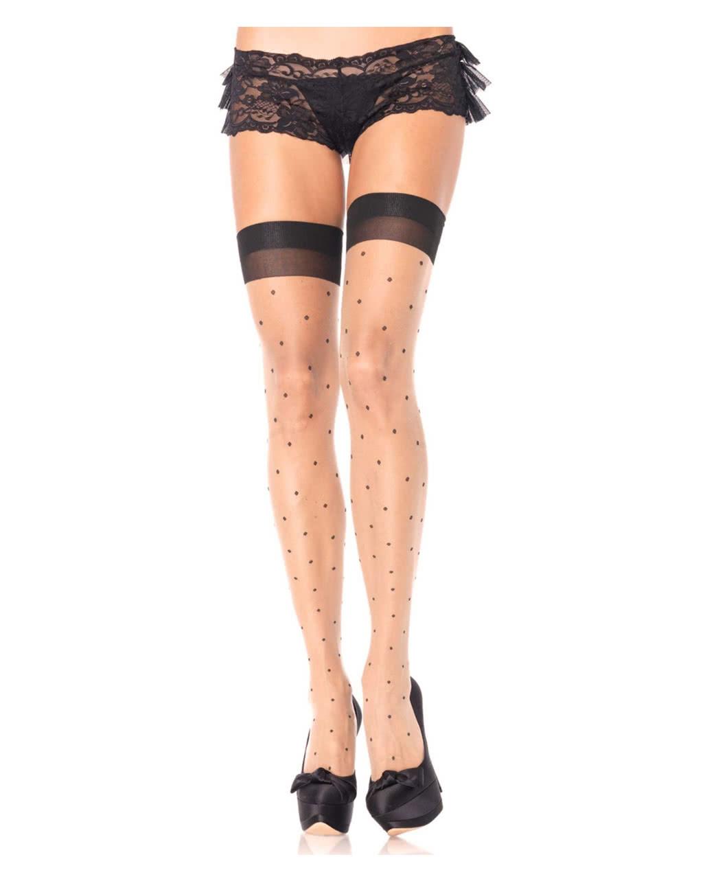 91ce05ae77dc5 Overknee Fine stockings Polka Dots ○ 50s | horror-shop.com