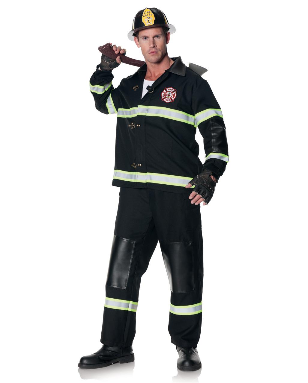 Feuerwehr Mann Kostum Mit Helm Fur Halloween Horror Shop Com