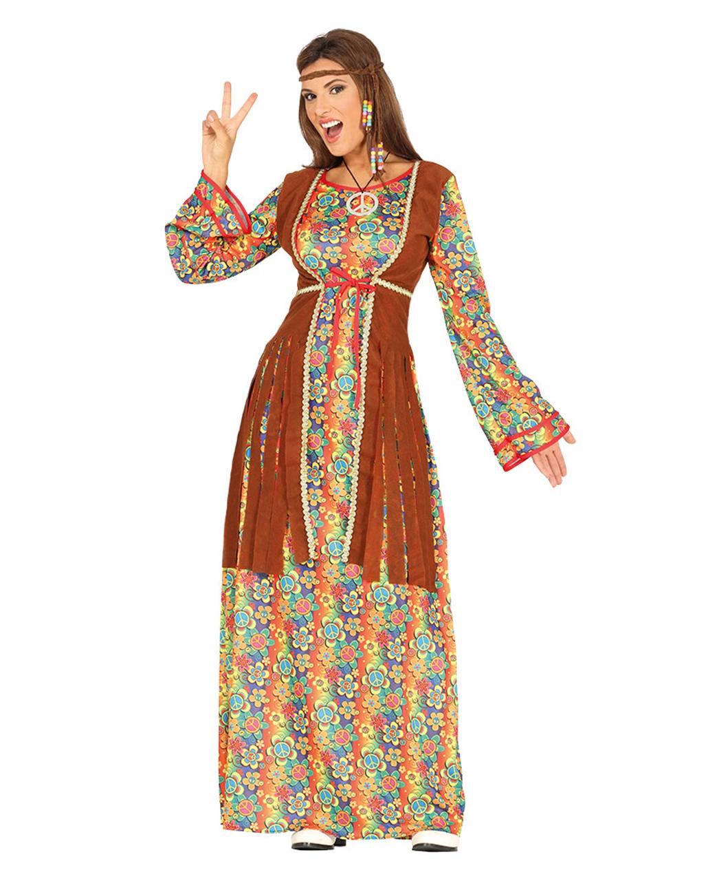 Flower Power Maxi Hippie Dress Breanna | Motto Party | horror-shop.com