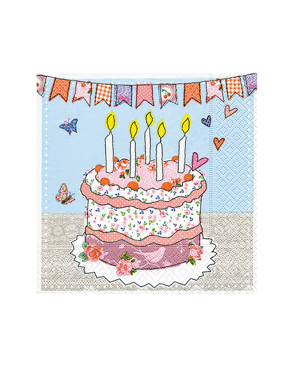 Birthday Cake Napkins 20 Pieces