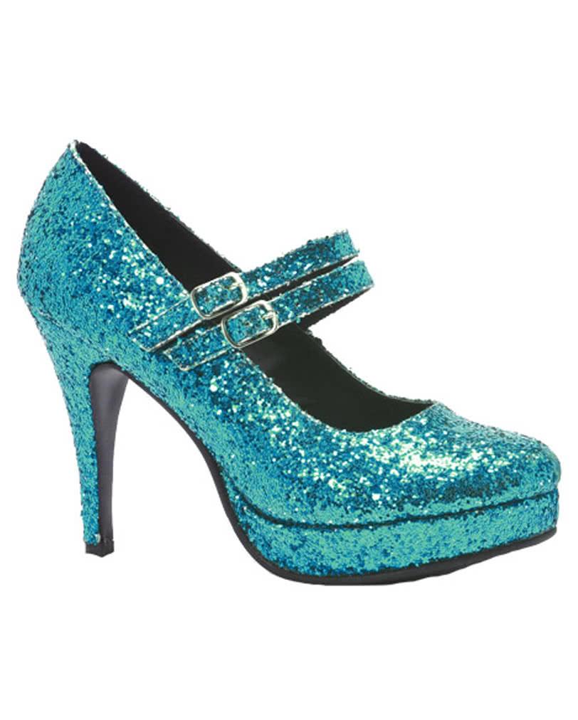 Glitter Mary Janes Pumps blau 006e1e6dd8