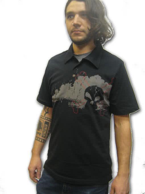 Dark Skull Polo Shirt Gr M Gothic Fashion Gunstig Kaufen Horror