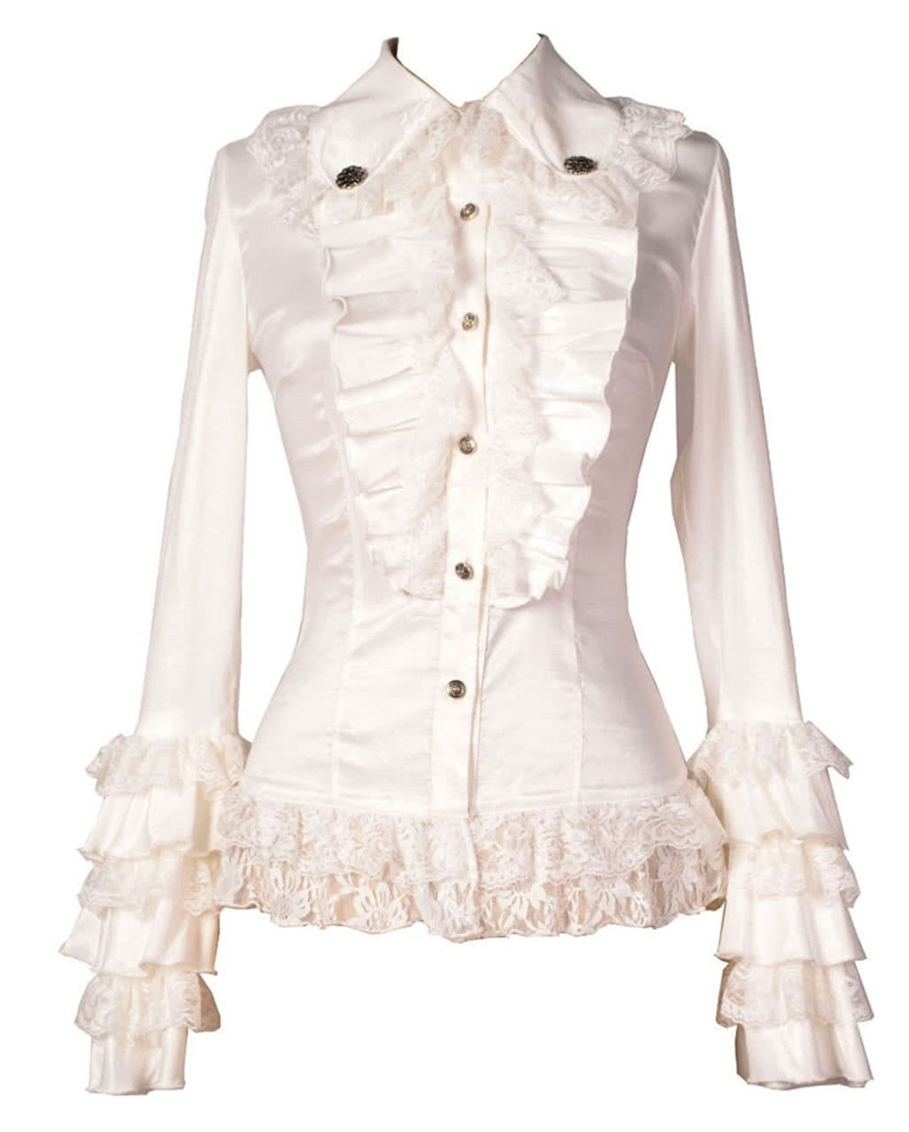 aaf5597fdcc1ca Gothic Blouse white | Buy Steampunk Fashion | horror-shop.com