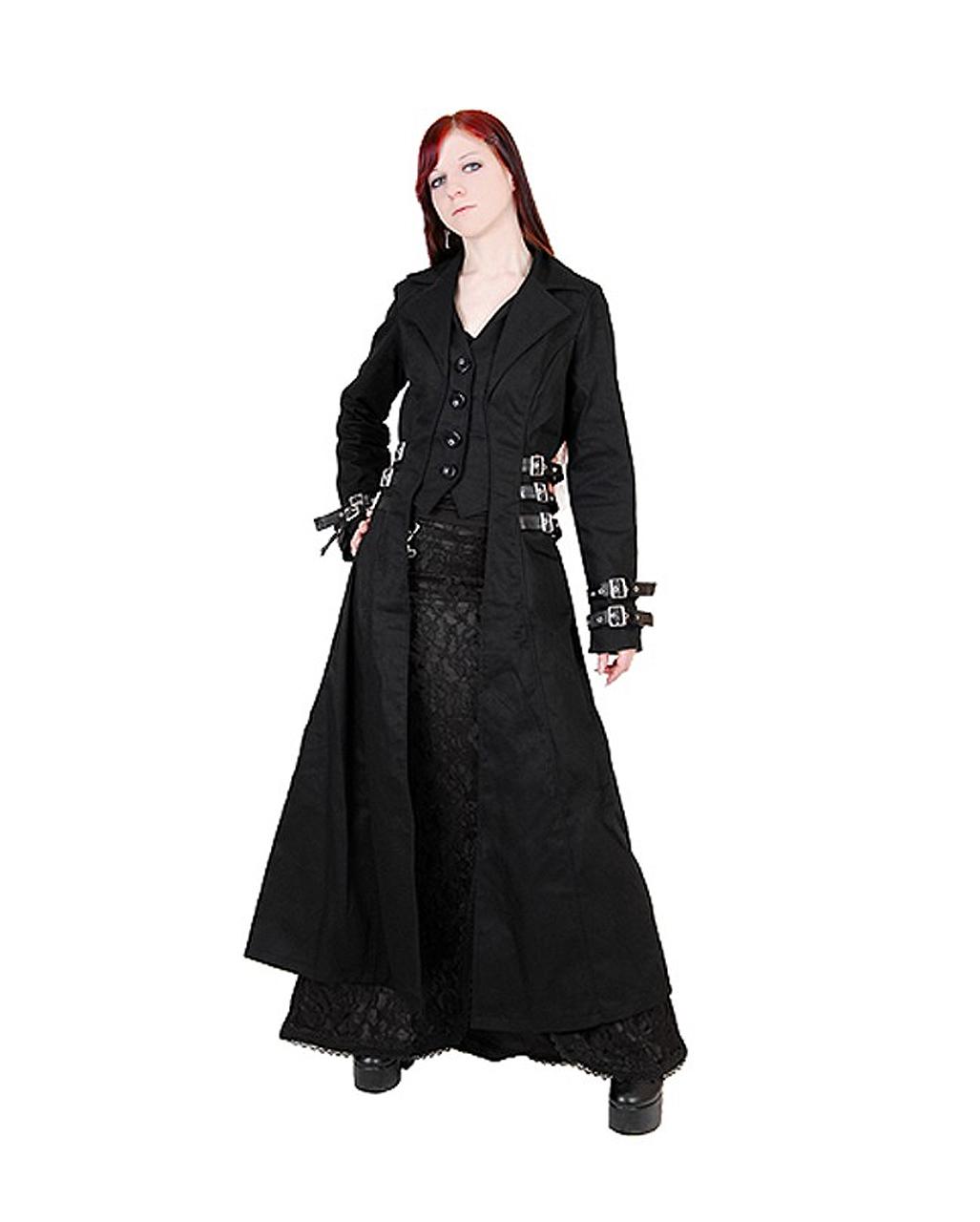 Gothic mantel schwarz