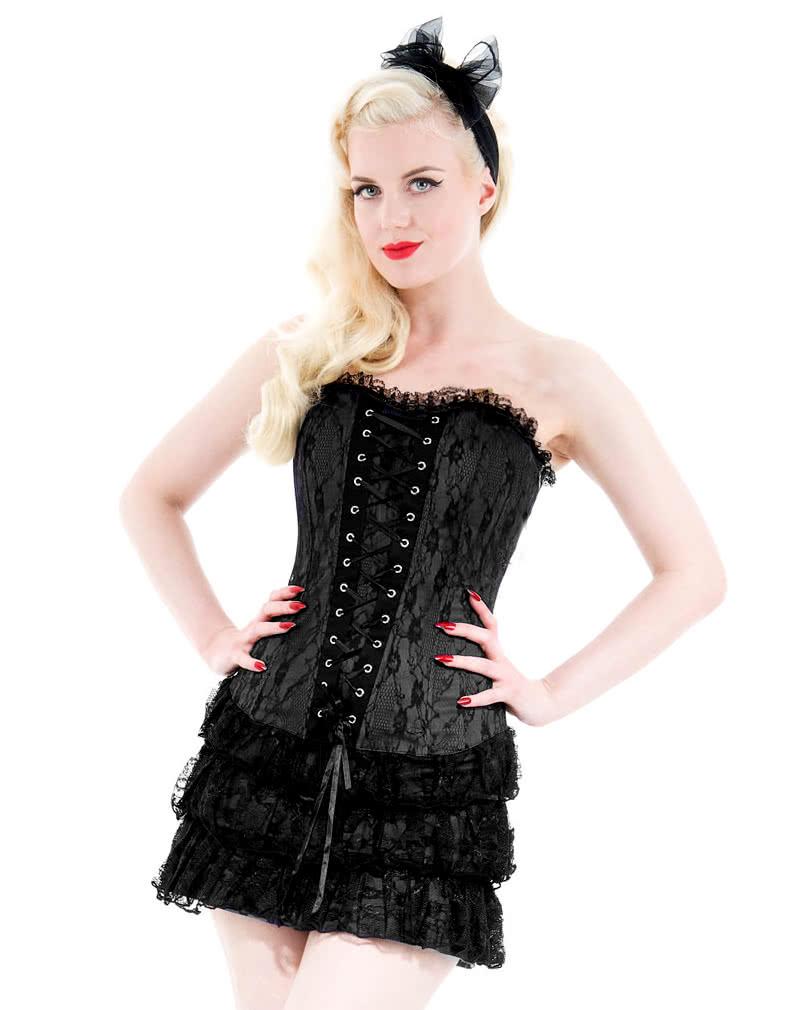 297969b6074 Gothic Corset Dress black | Gothic Fashion | Corsage dress | horror-shop.com