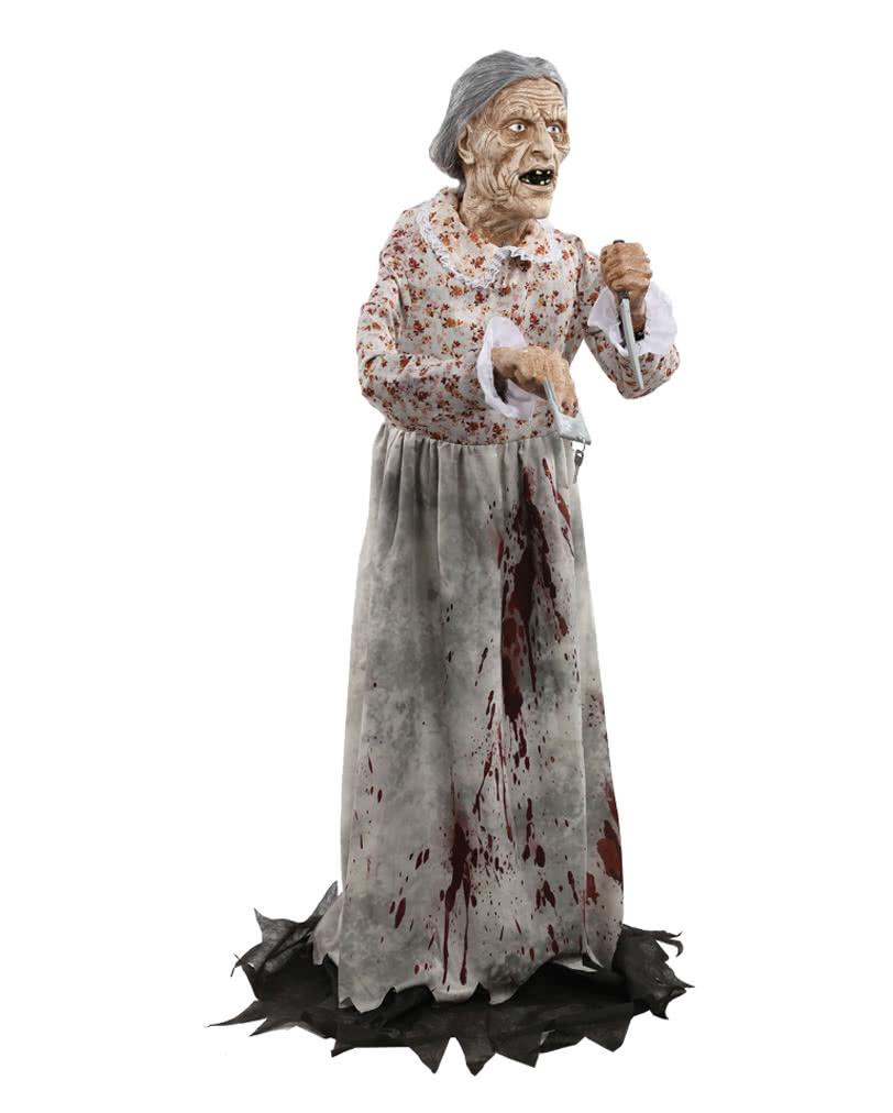 Großmutter Bates Aufstellfigur 154 cm Halloween Figur | Horror-Shop.com