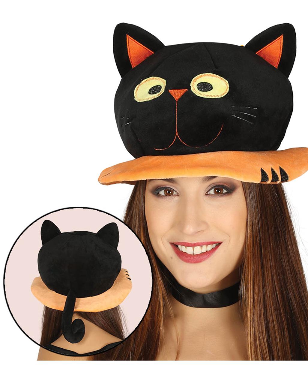 Halloween Hut Schwarze Katze Kostum Accessoire Horror Shop Com