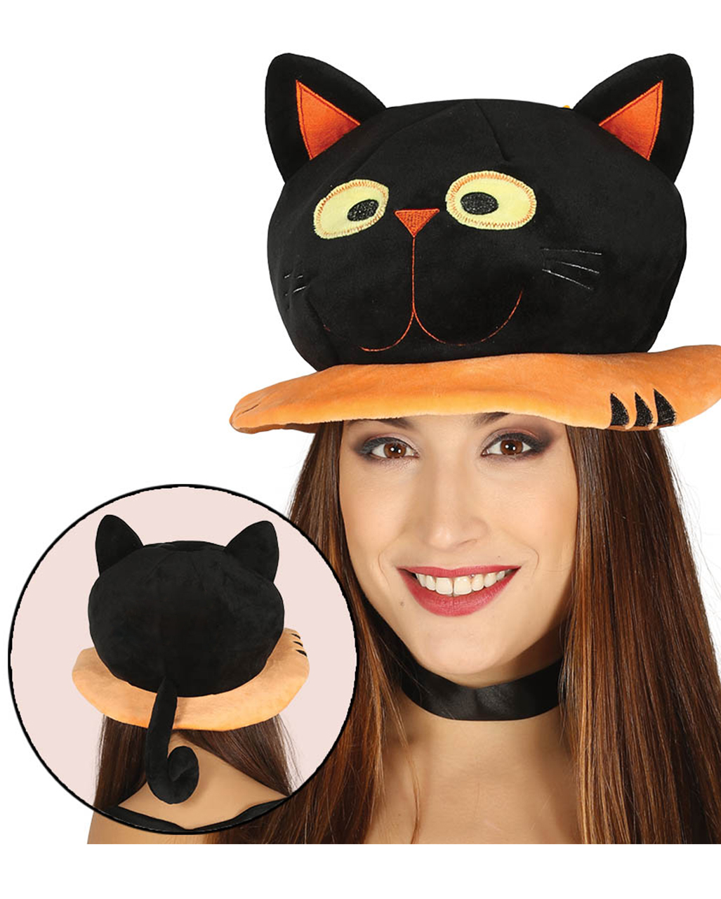halloween hat black cat | costume accessory | horror-shop