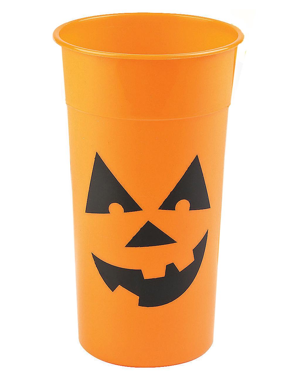Halloween Kurbis Trinkbecher Partygeschirr Horror Shop Com