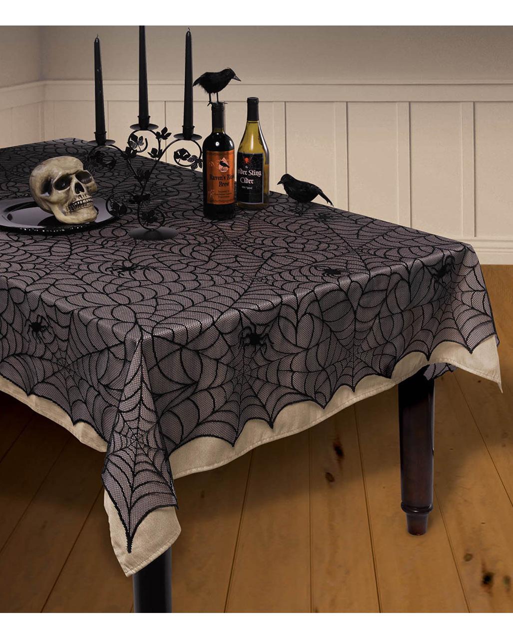 halloween tablecloth deluxe with halloween scene horror shop com