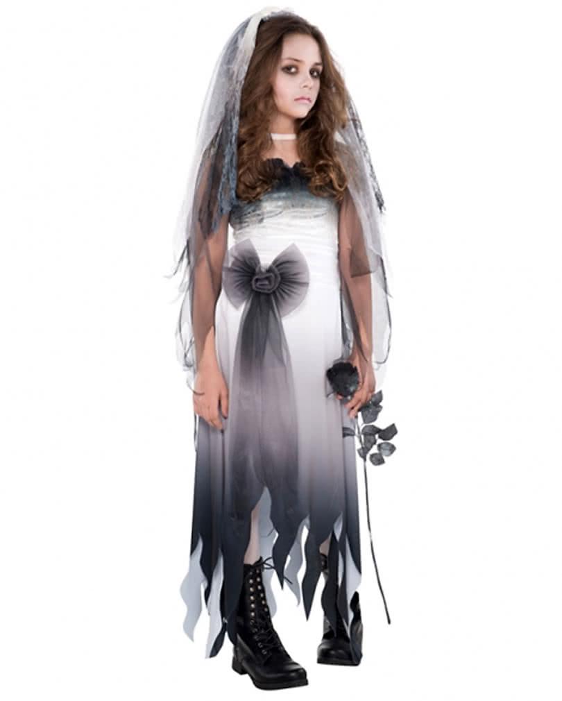 graveyard bride child costume | girls ghost wedding dress | horror