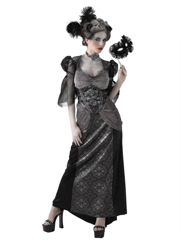 Black Countess Costume | Baroque ball gown for Halloween | horror ...