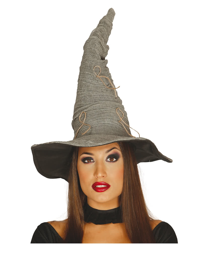 sc 1 st  Horror-Shop.com & Halloween Witch Hat Grey costume accessories | horror-shop.com