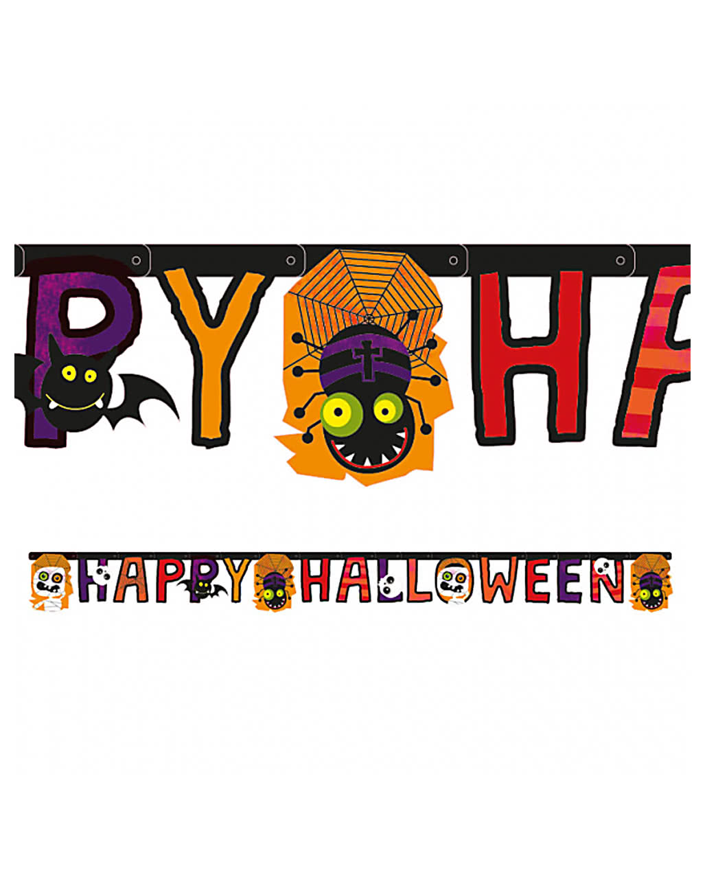 Halloween Garland | Happy Halloween Garland 180 Cm As A Party Decoration Horror Shop Com
