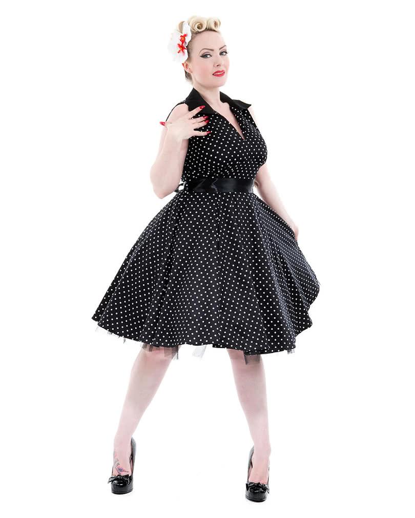 Vintage Kleid schwarz   Polka Dot Kleid   Petticoat Kleid   Horror ... 5e8744c105