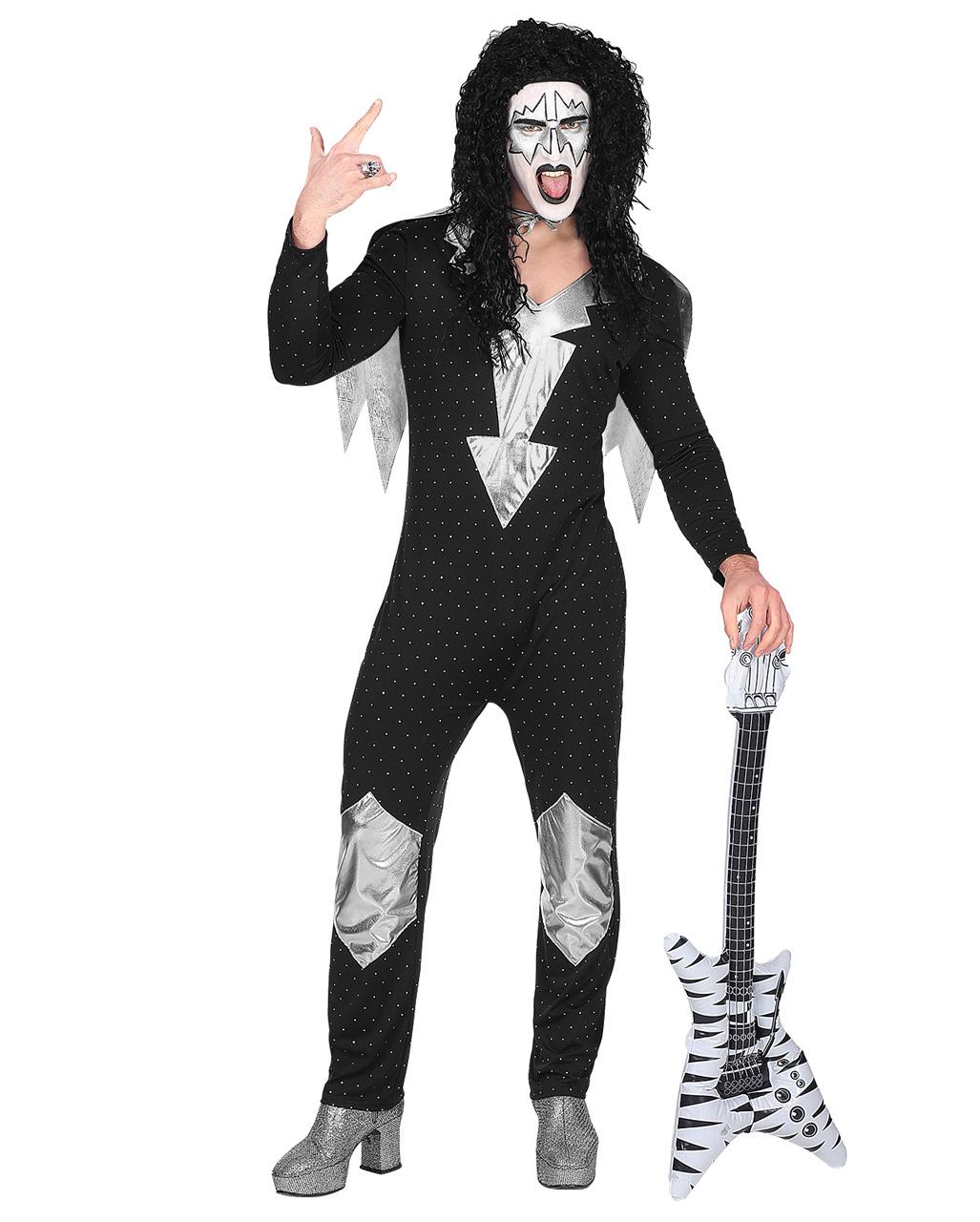 Heavy Metal Rock Star Kostum Fur Halloween Horror Shop Com