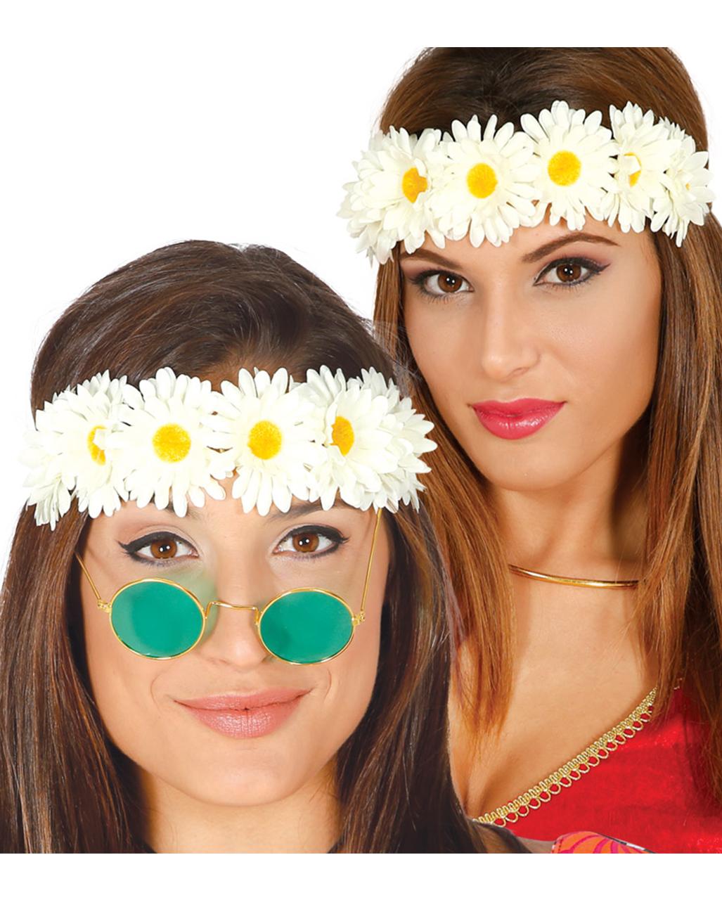 Hippie Flower Headband Carnival Motto Party Horror Shop