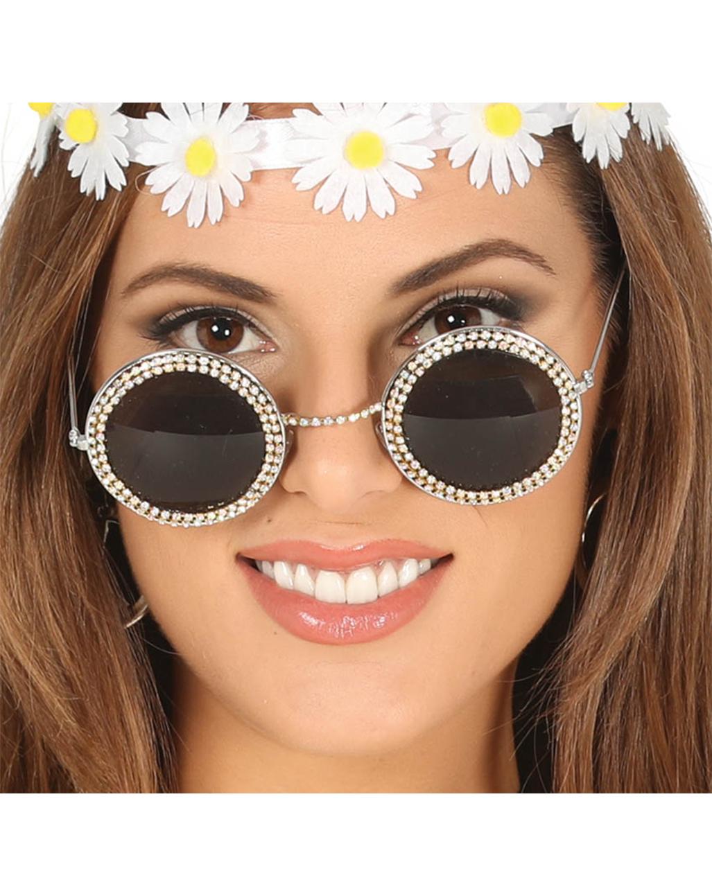 348cc2f18bb2 Hippie Brille mit Strass Karneval   Motto Party