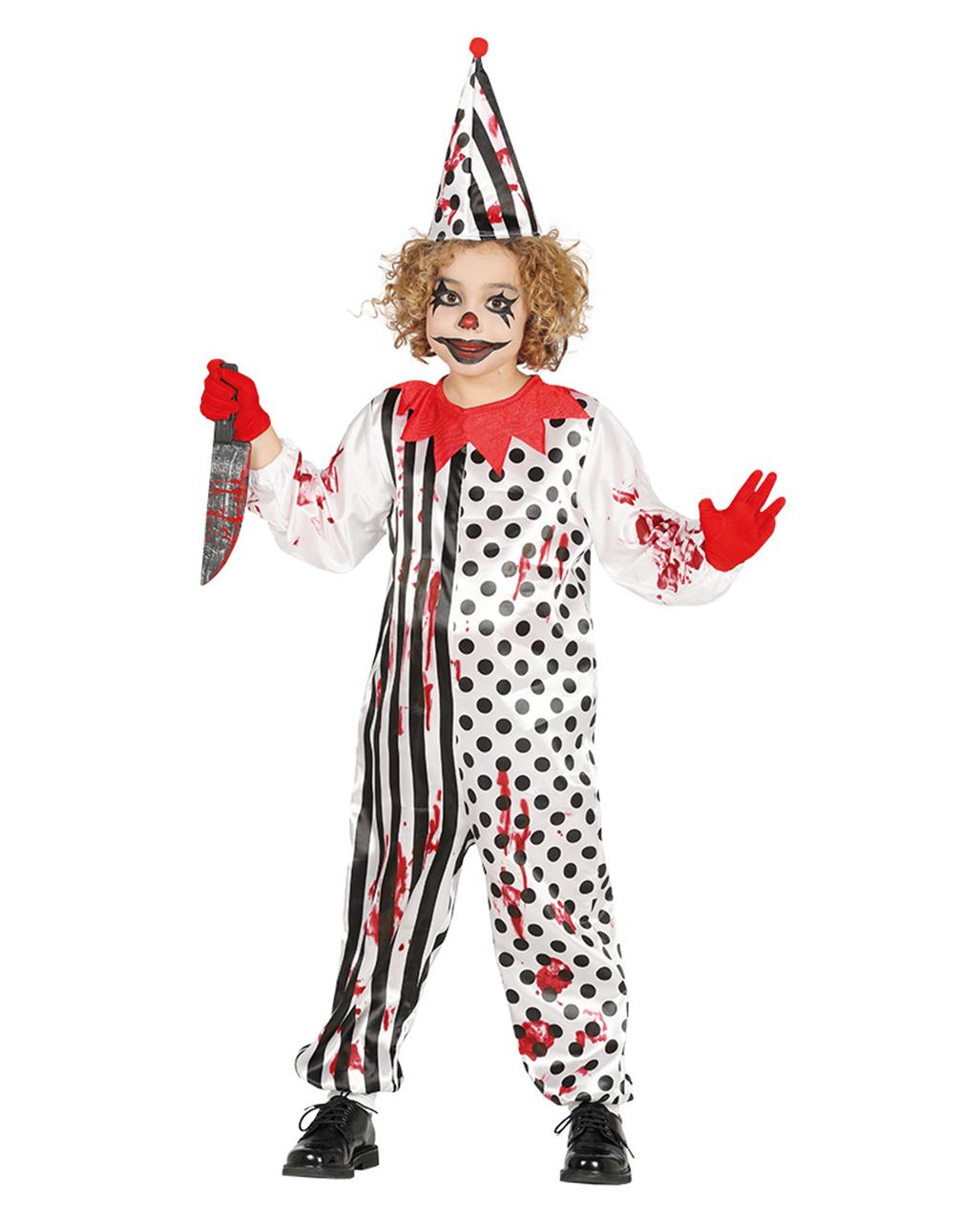 Horror Clown Child Costume For Halloween Horror Shop Com