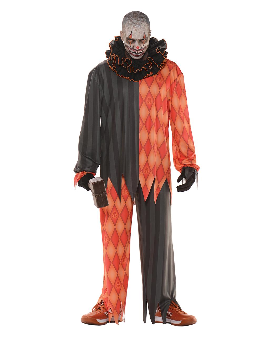 Evil clown costume with ruffled collar für Horror Clowns | horror-shop.com  sc 1 st  Horror-Shop.com & Evil clown costume with ruffled collar für Horror Clowns | horror ...