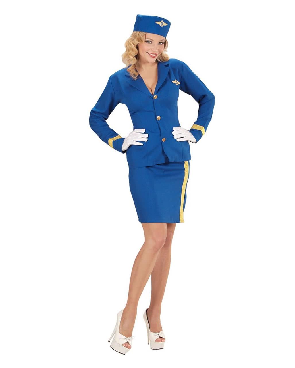 Badewanne Kostüm stewardess kostüm mit mütze für karneval horror shop com