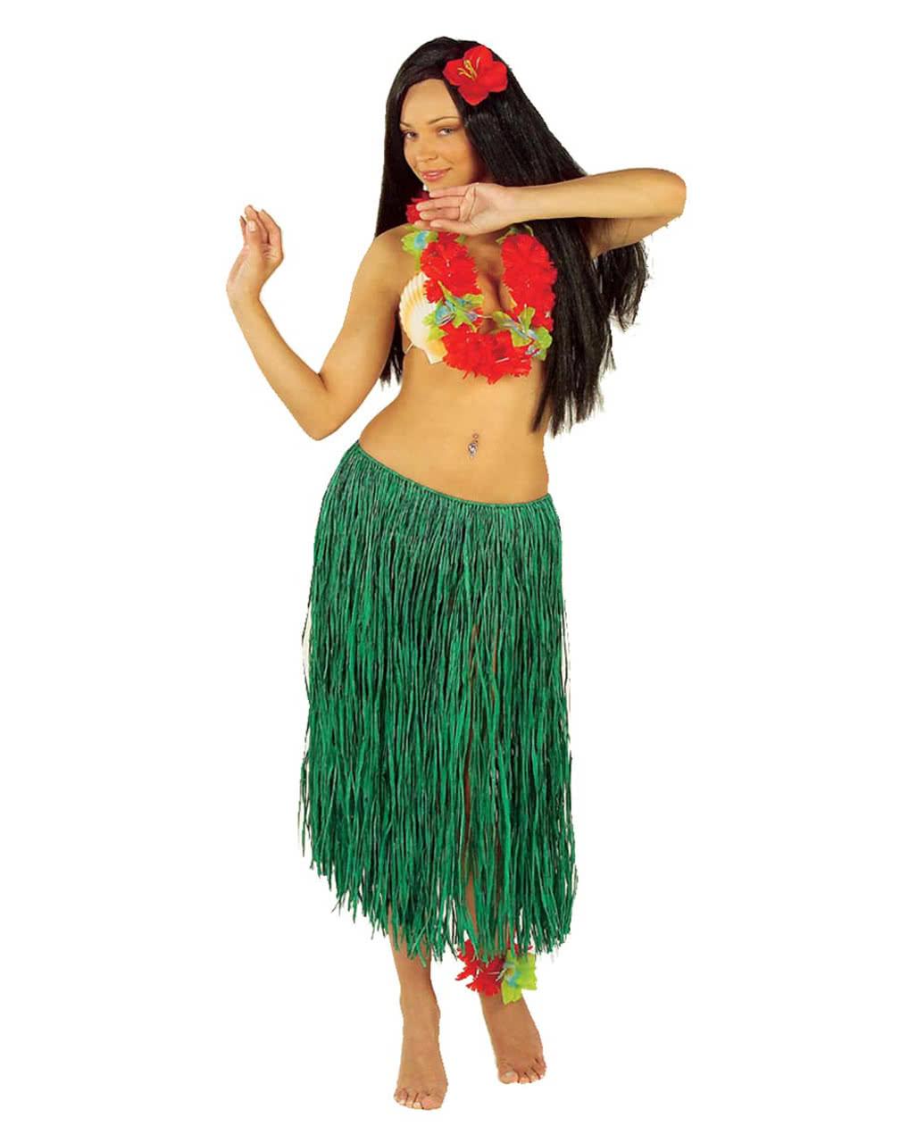 a5daa6df hula skirt green | Hawaii Hula Skirt | horror-shop.com