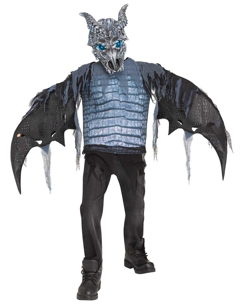 ice dragon kids costume with leds for halloween | horror-shop