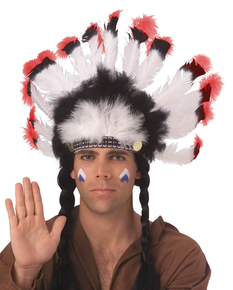 413d6acef Indian Feather Headdress | Indian Chief | Native American Look |  horror-shop.com
