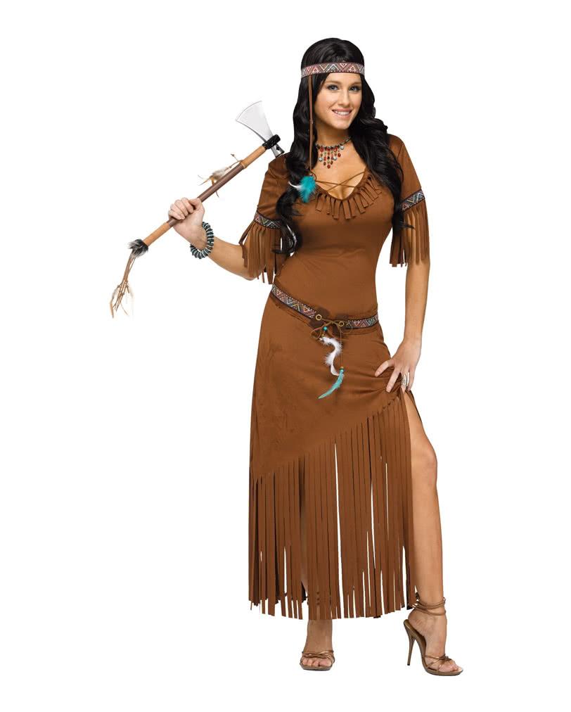 Indianerin Western Kostum Squaw Kostum Horror Shop Com