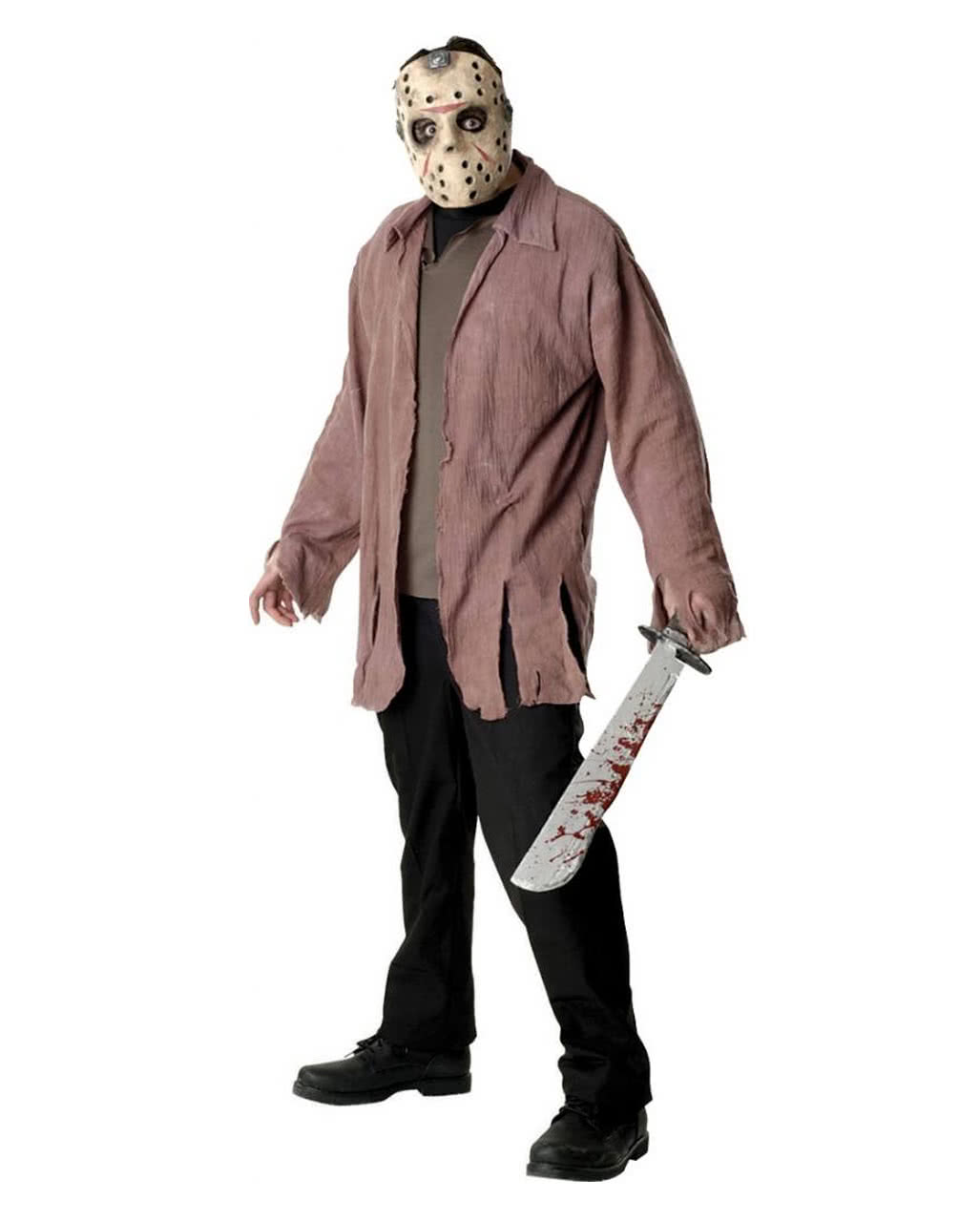 jason voorhees mask and ragged shirt | horror-shop