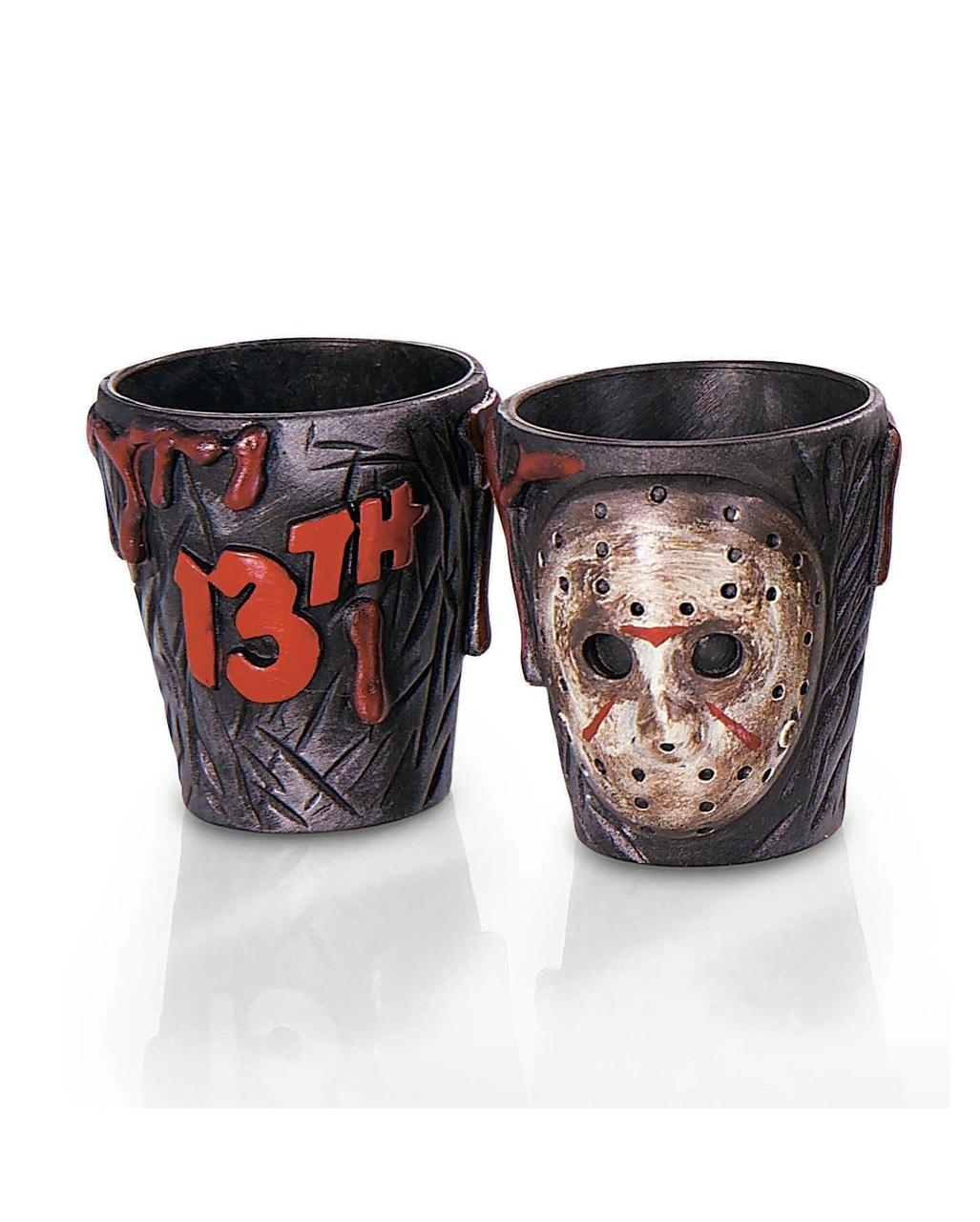 Jason Schnapsgläser 2 Stück Halloween Tischdeko | Horror-Shop.com