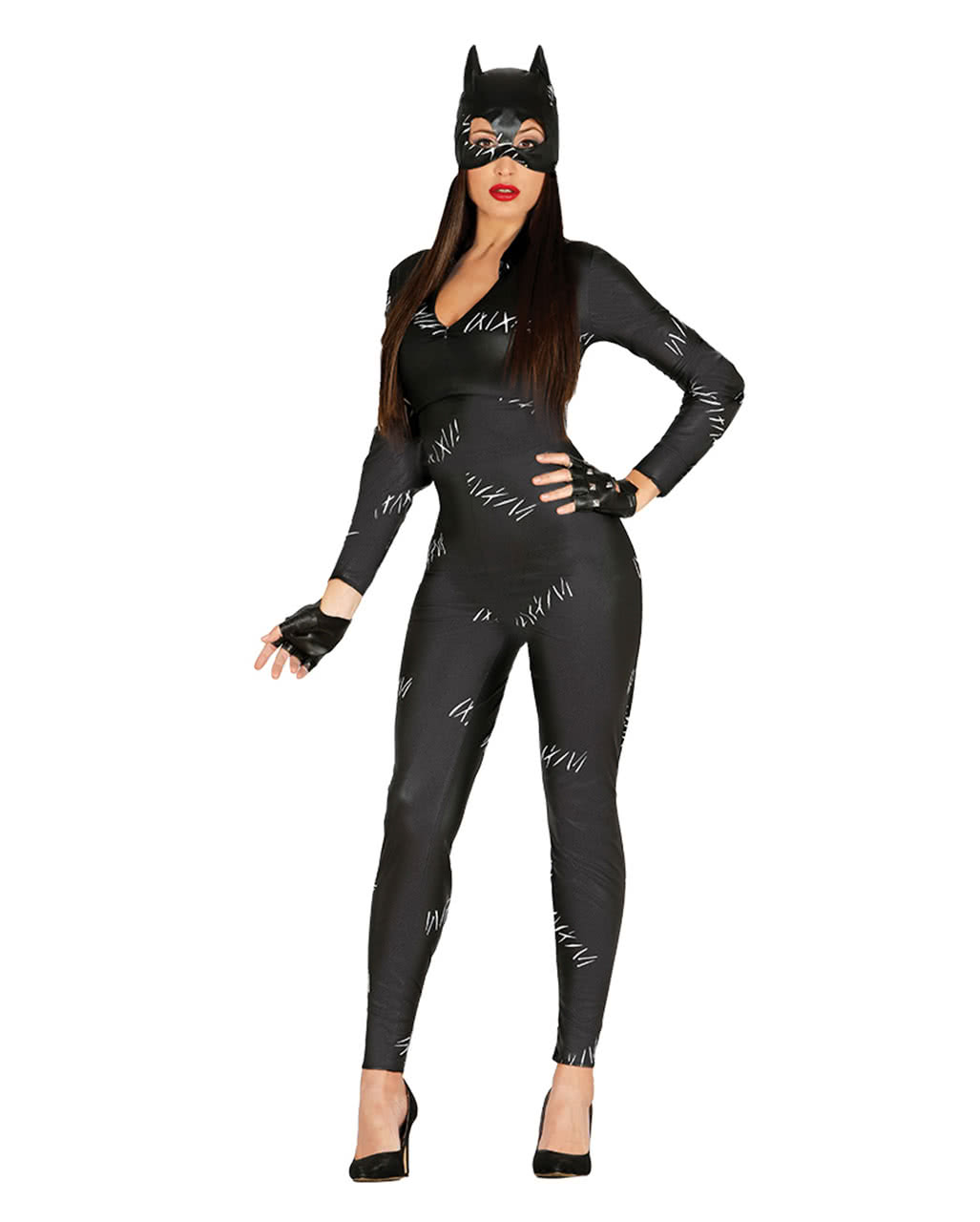 sexy cat jumpsuit womens costume catsuit for halloween parties horror shopcom - Cat Outfit For Halloween