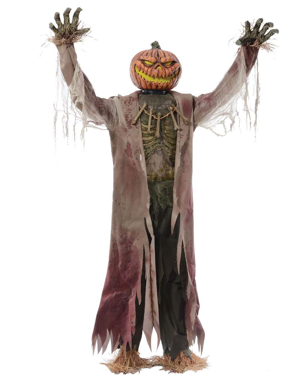 Kürbis Vogelscheuche Halloween Animatronic Kaufen Horror Shopcom