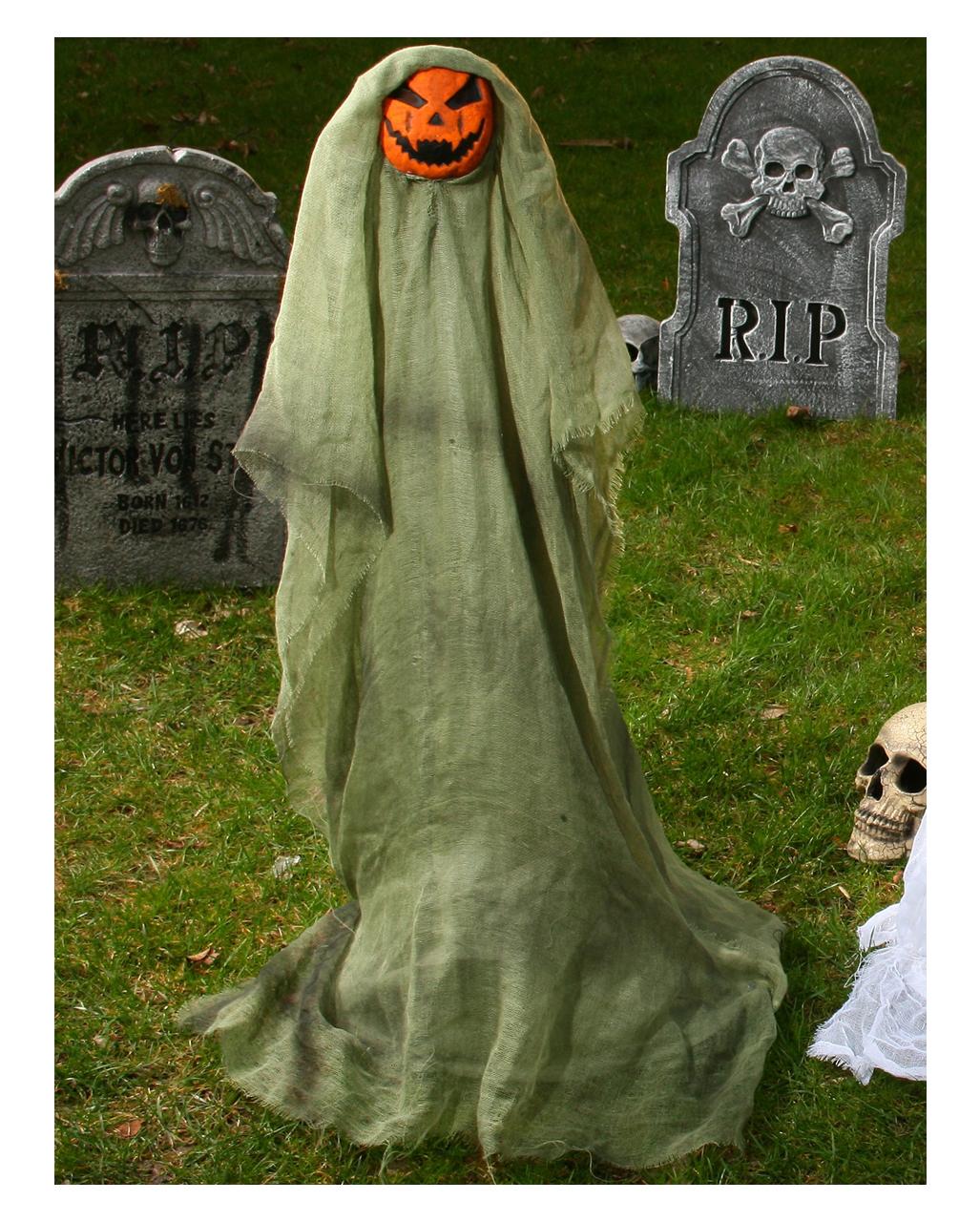 Kürbisgeist Gartenfigur Halloween Außen Deko Horror Shopcom
