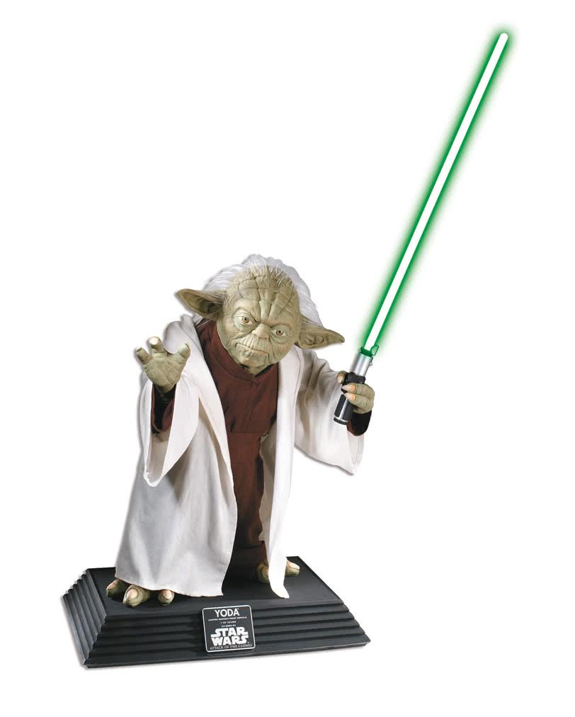 Lebensgroße Yoda Statue   Hochwertiger Star Wars Fanartikel   Horror ...