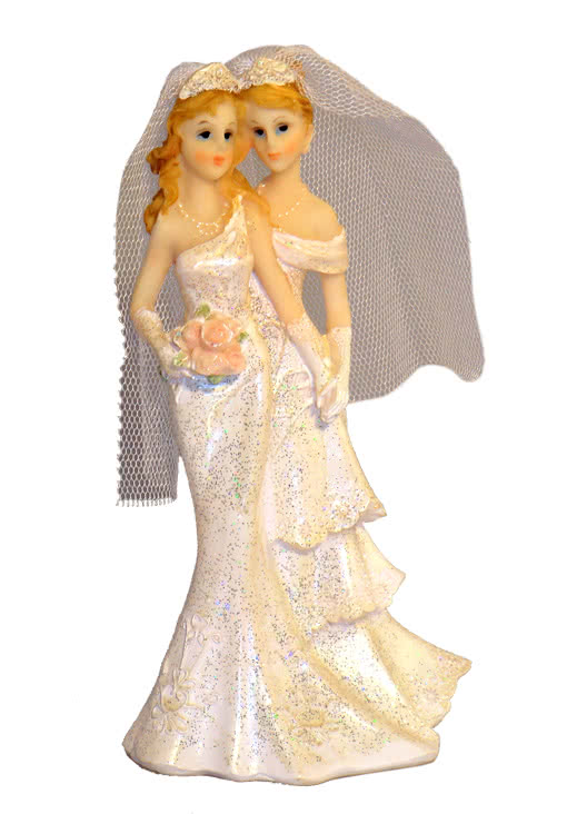Lesbian Wedding Couple 16 5 Cm Lesbian Bridal Couple Lesbian