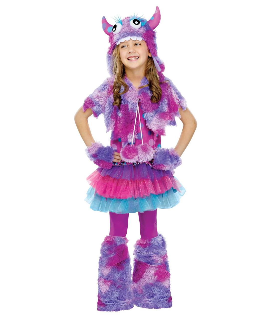 87623038f95b5 Purple Cuddly Monster Girl Costume Halloween costume | horror-shop.com