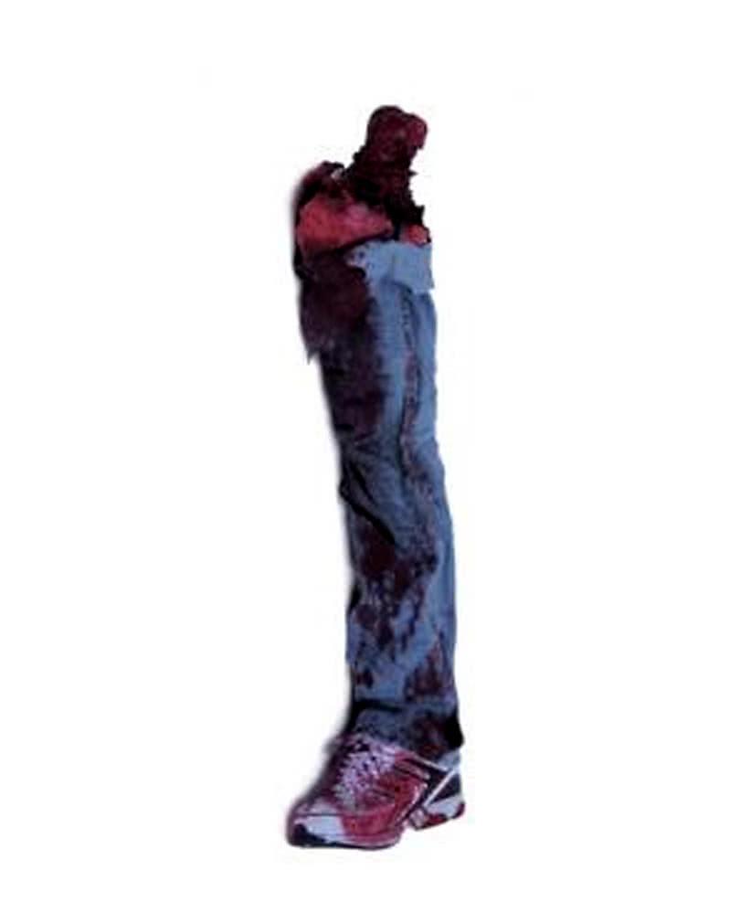 Menschliches Bein mit Jeans und Turnschuh - Halloween Leichenteile ...