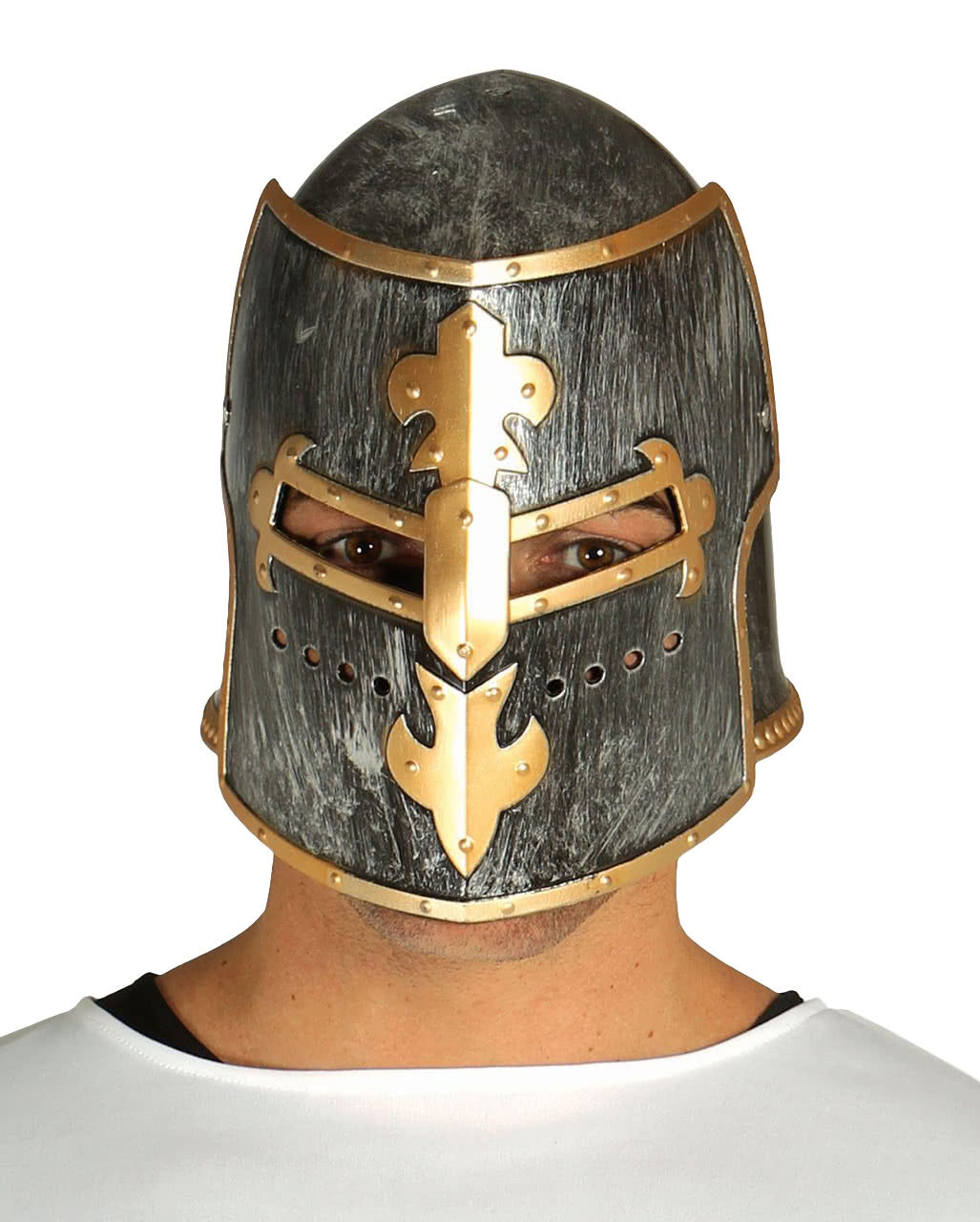 Medieval Knight Helmet  sc 1 st  Horror-Shop.com & Medieval Knight Helmet | Head of the cross | horror-shop.com