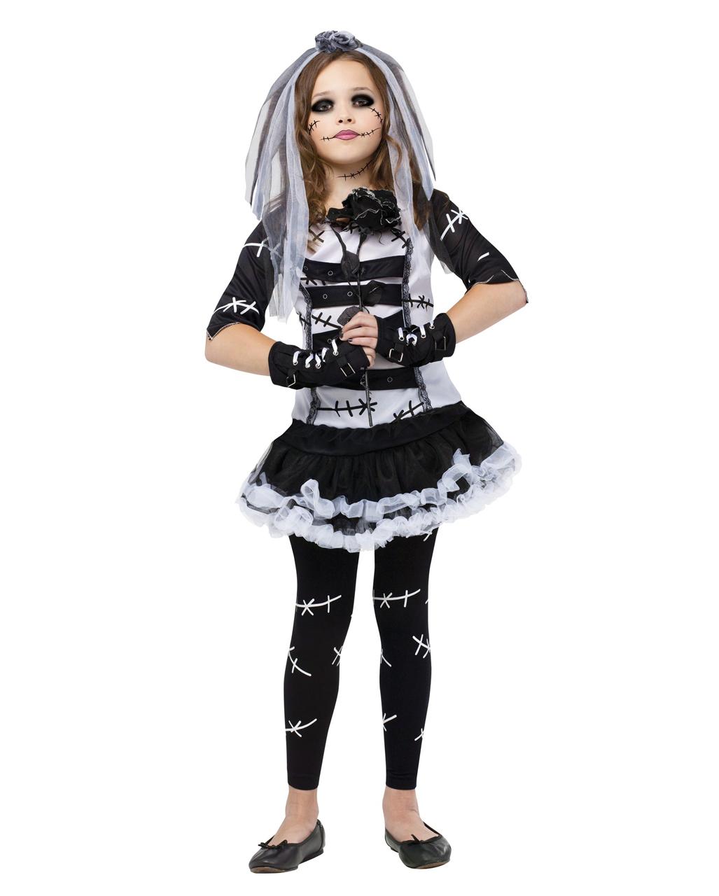 Monster Bride Child Costume ...  sc 1 st  Horror-Shop.com & Monster Bride Child Costume Zombie Bride Costume | horror-shop.com