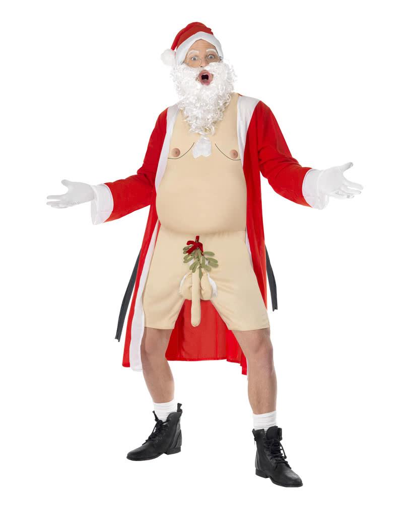 Naked Santa Costume With Mistletoe On The Penis Buy Santa Claus