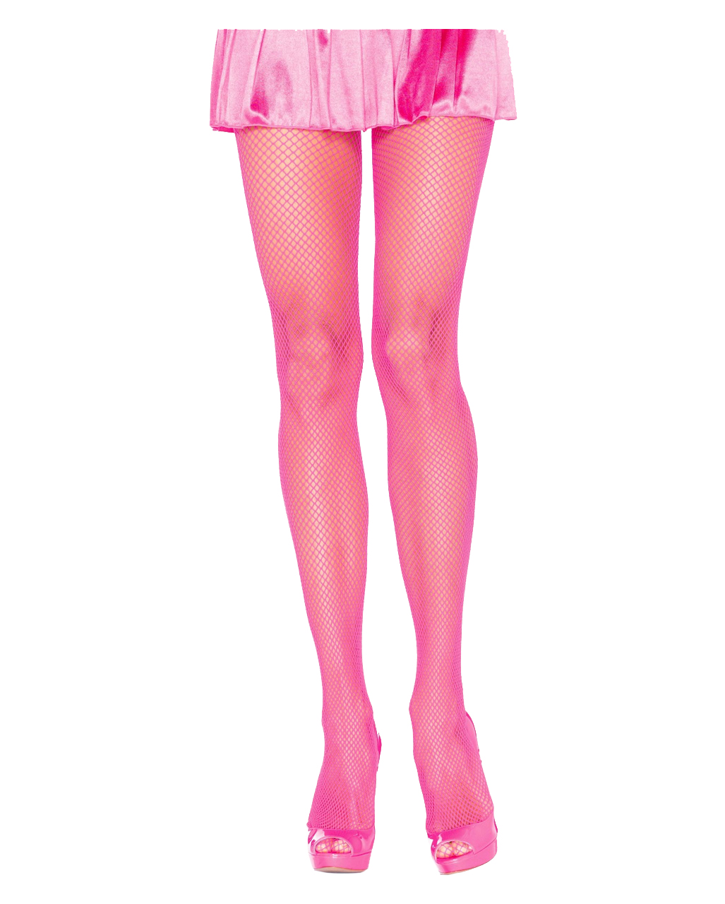 a4fab0220ce83 Neon Pink 80s Fishnet Tights for Bath Button Party | horror-shop.com
