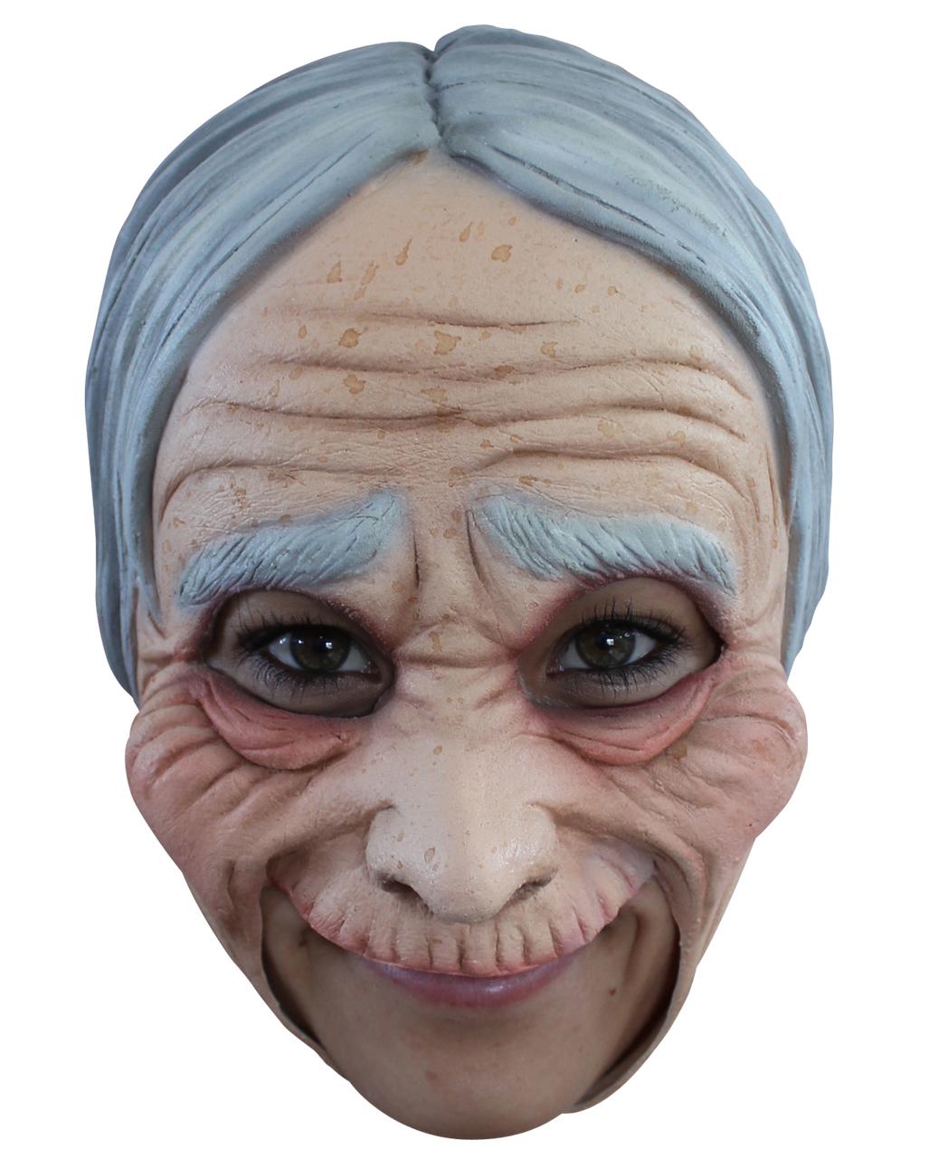 Oma Maske Mit Falten Fur Fasching Horror Shop Com