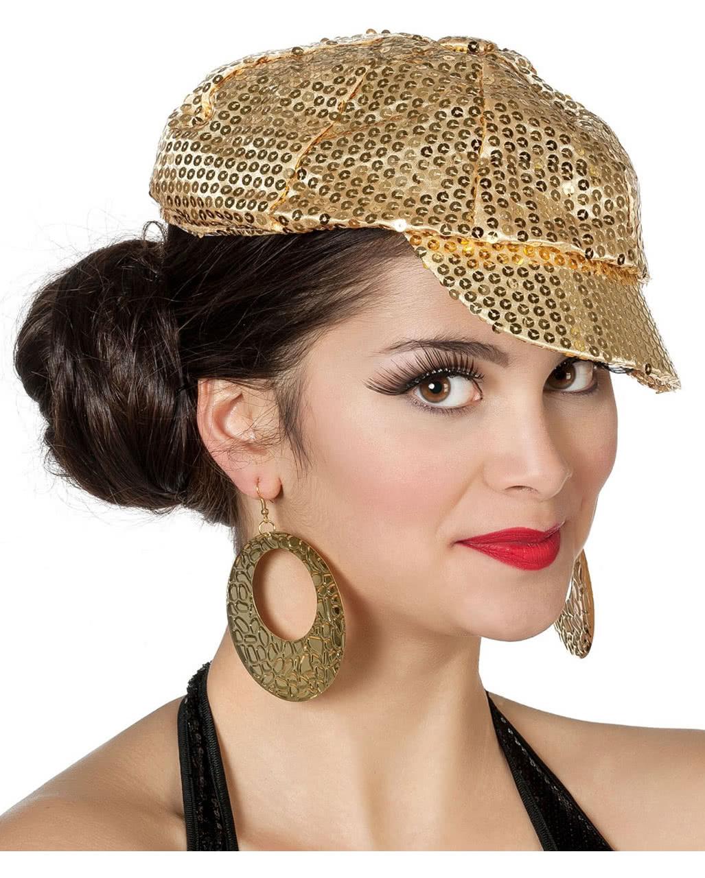 5d931c937d6b98 Sequins cap gold for carnival | horror-shop.com
