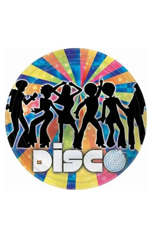 Paper plates Disco Dancer  sc 1 st  Horror-Shop.com & Paper plates Disco Dancer | Snack plate with 70s motif | horror ...