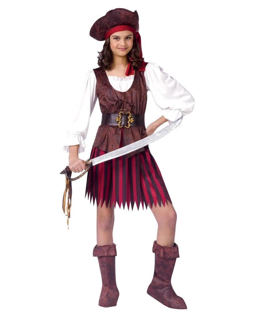 Piratin Kinder Kostum L Seerauber Kostum Fur Madchen Horror Shop Com