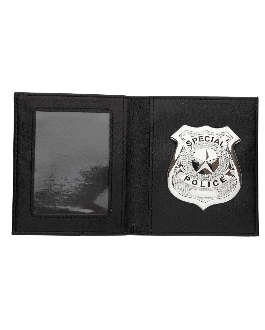dc60ae13d14d9 Polizeimarke in Brieftasche als Kostümzubehör