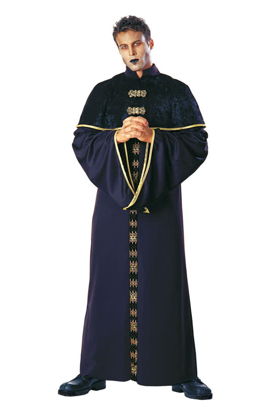 Liche Priests Costume | Satan Priest costume for Halloween | horror-shop.com  sc 1 st  Horror-Shop.com : priest robe costume  - Germanpascual.Com