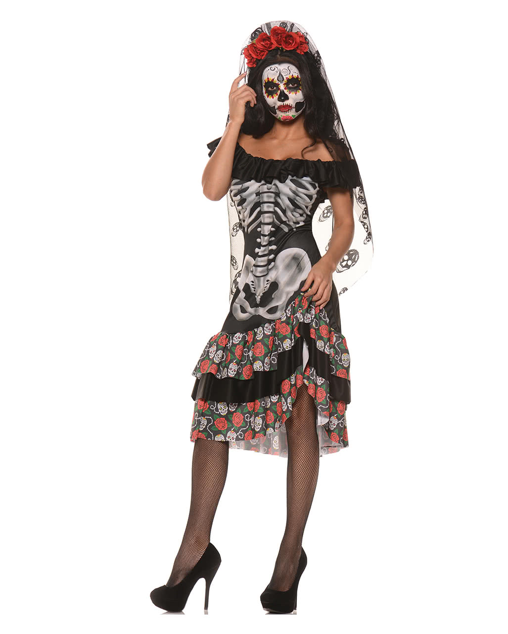 Queen Of The Dead Costume | Sugar Skull Women\'s Costume | horror ...
